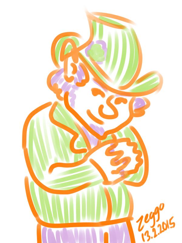 Hattupäinen juonikas ukko