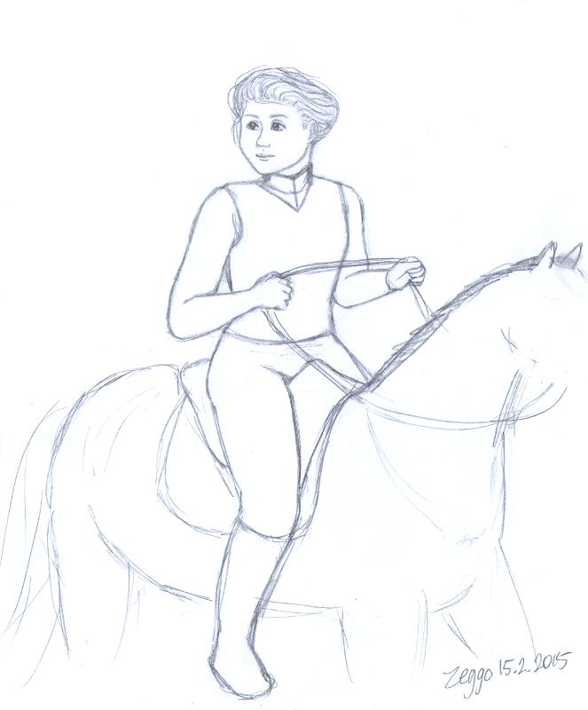 Ratsastajanainen hevosen selässä