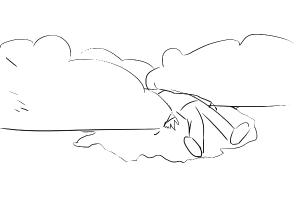 kuollut hahmo makaa puskissa