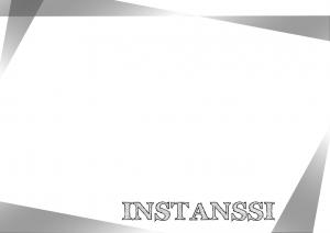 Instanssi-teksti vinossa kehikossa