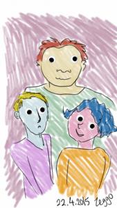 Kolme värikästä ja kummallista mulkosilmäistä hahmoa