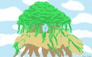 Suuri puu taivaalla