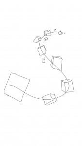 3-ulotteisia laatikoita läheltä kaukaisuuteen saakka S:n muotoisessa muodostelmassa
